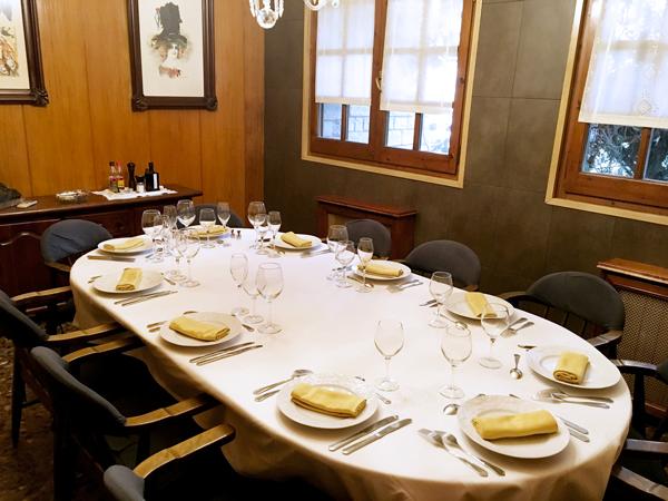 Imatge d'una taula d'un menjador privat del Restaurant Ramon